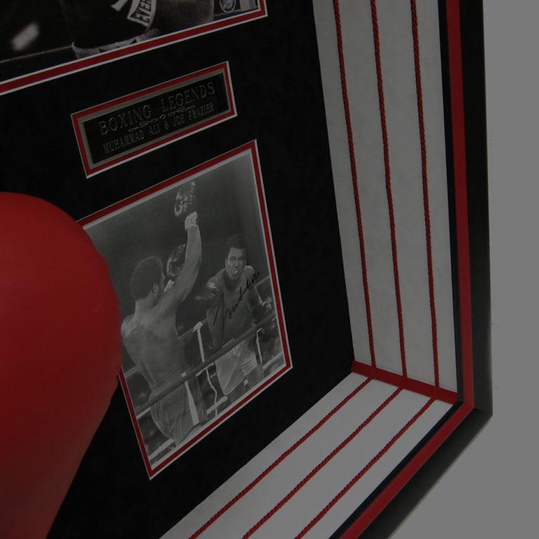 joe frazier muhammad ali boxing legends shadowbox csd framing dallas tx