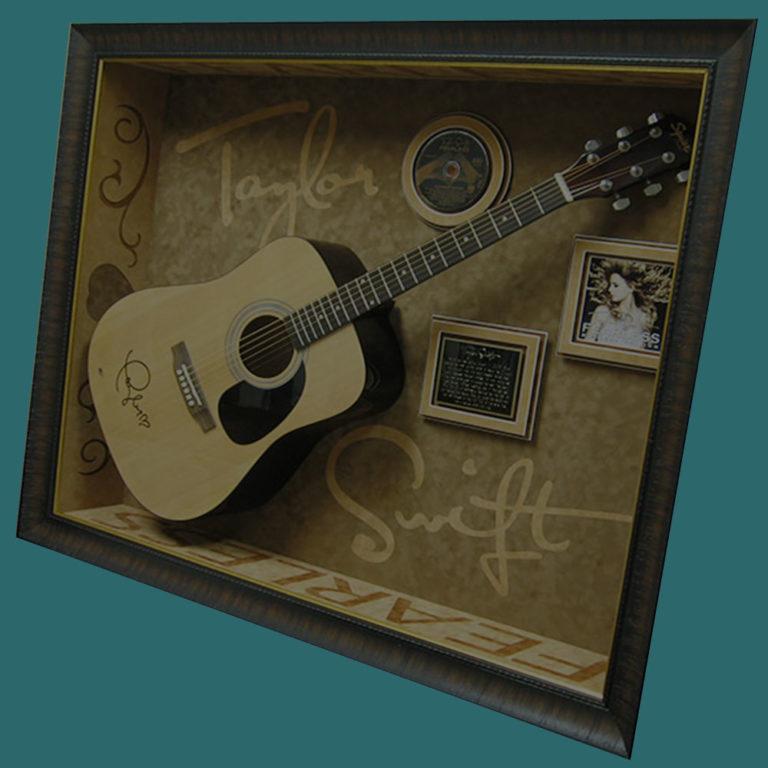 Resized t swift guitar display case csd framing dallas tx