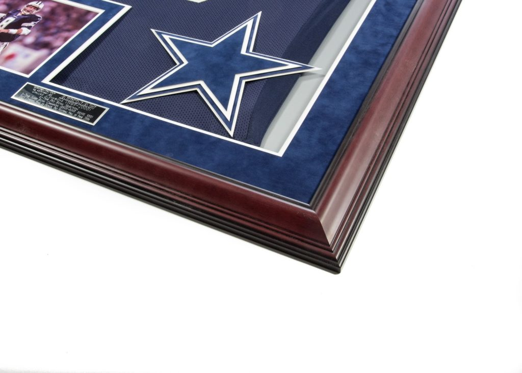 troy aikman autographed jersey photo package csd framing carrollton tx dallas cowboys