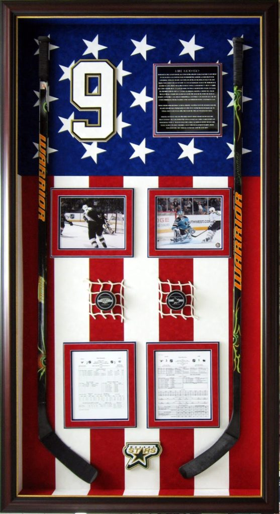 Mike Modano Hockey Stick Display Case CSD Carrollton, Texas