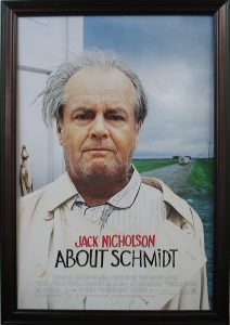 ABout Schmidt Movie Poster CSD framing carrollton TX