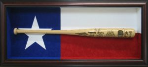 tx flag baseball bat shadow box csd framing