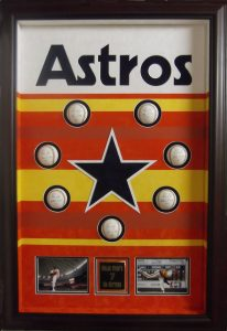 astros baseball display case csd framing